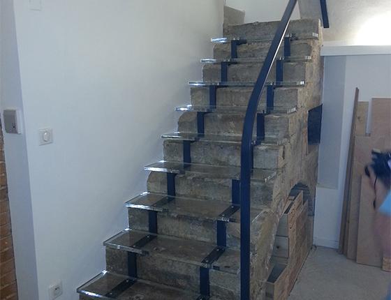 Escalier pantoufle de V
